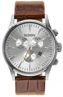 Karóra Nixon Sentry Chrono Leather Saddle Gator A405 1888