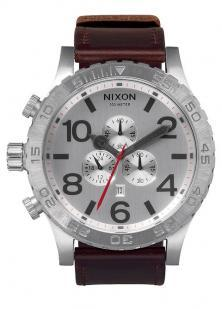 Karóra Nixon 51-30 Chrono Leather Silver A124 1113