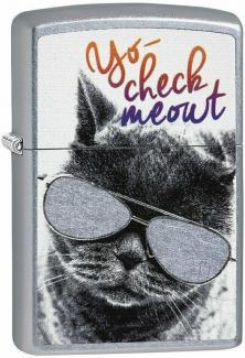 Öngyújtó Zippo Cat With Glasses 29619
