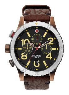 Karóra Nixon 48-20 Chrono Leather Antique Copper A363 1625