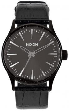 Karóra Nixon Sentry 38 Leather Black Gator A377 1886