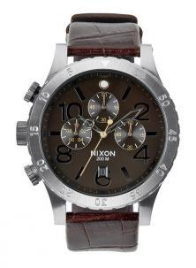 Karóra Nixon 48-20 Chrono Leather Brown Gator A363 1887